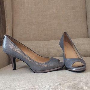 Calvin Klein silver heels